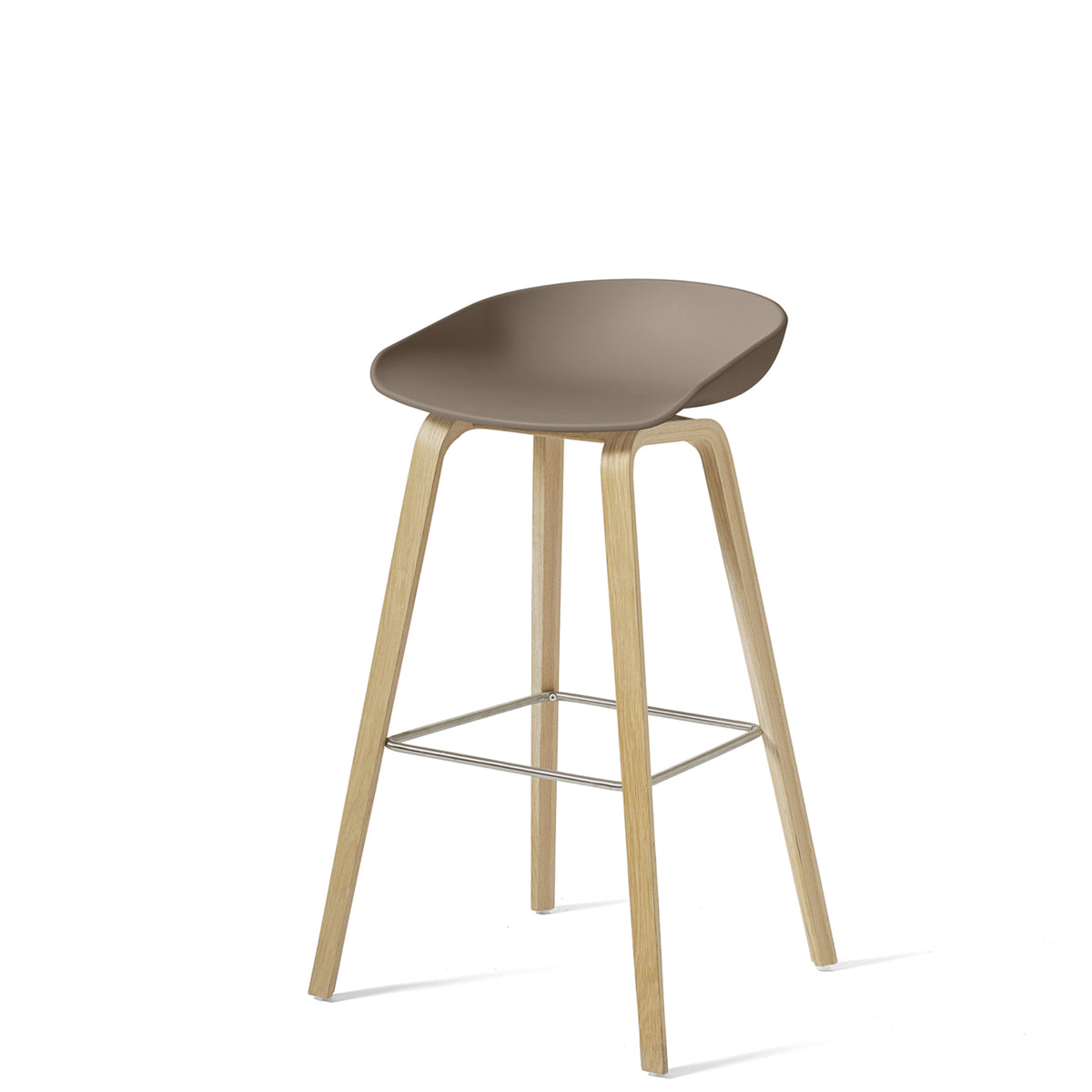 HAY About A Stool AAS32 850mm Khaki Matt Lacquered Oak Base