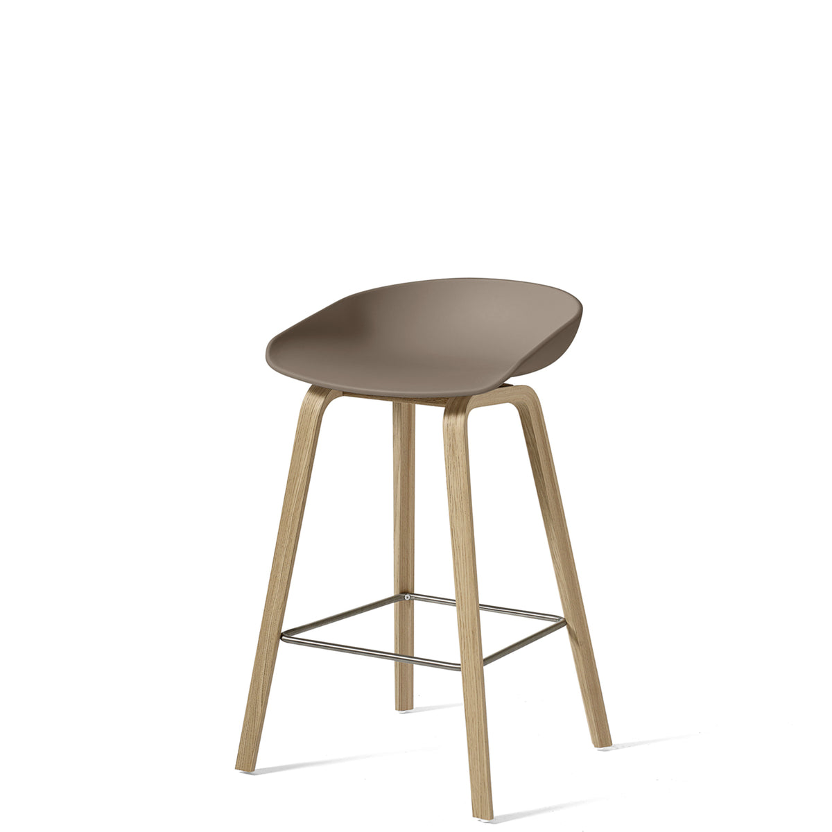 HAY About A Stool AAS32 750mm Khaki with Matt Lacquered Oak Base