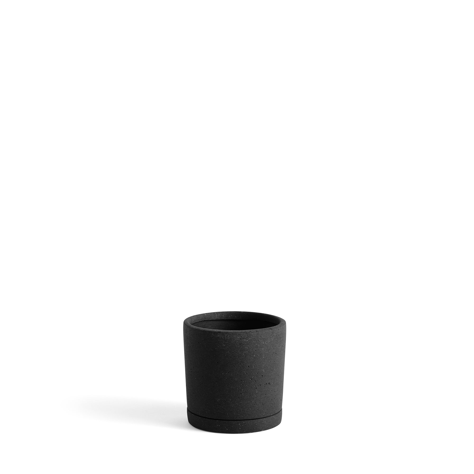 HAY Office Packs of Plant Pots with Matching Saucers Black