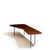 Knoll Alexander Girard Coffee Table Walnut Top with Black Base