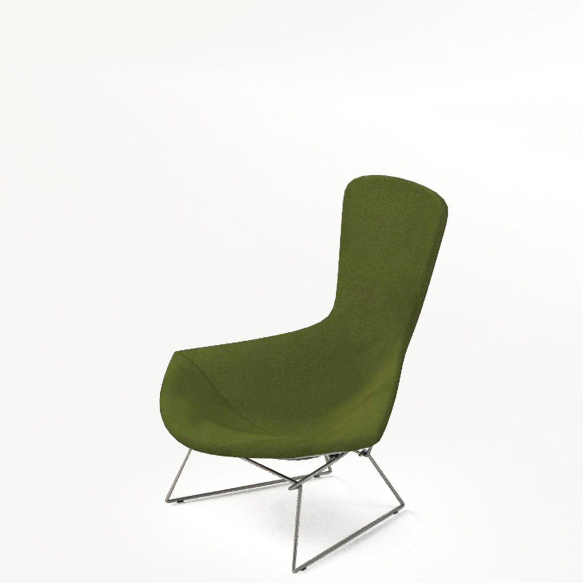 Knoll Bertoia Bird Lounge Chair Olive 0131