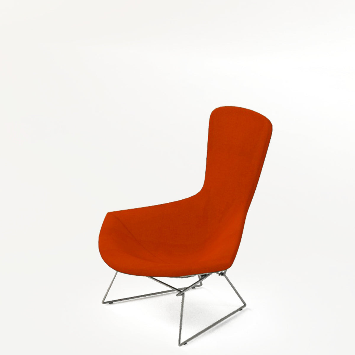 Knoll Bertoia Bird Lounge Chair Orange 0608