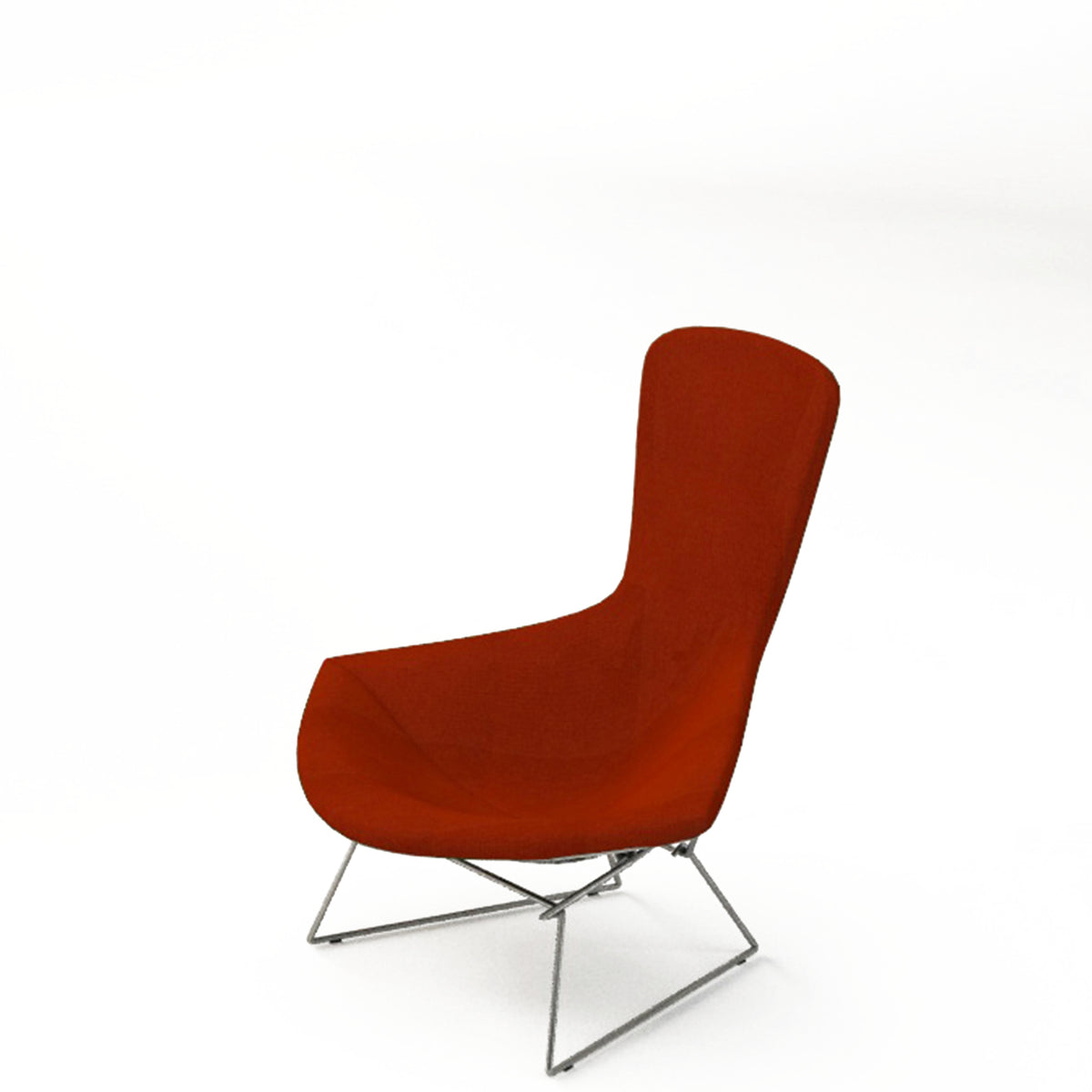 Knoll Bertoia Bird Lounge Chair Red 0207