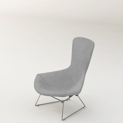 Knoll Bertoia Bird Lounge Chair Soft Grey 0216