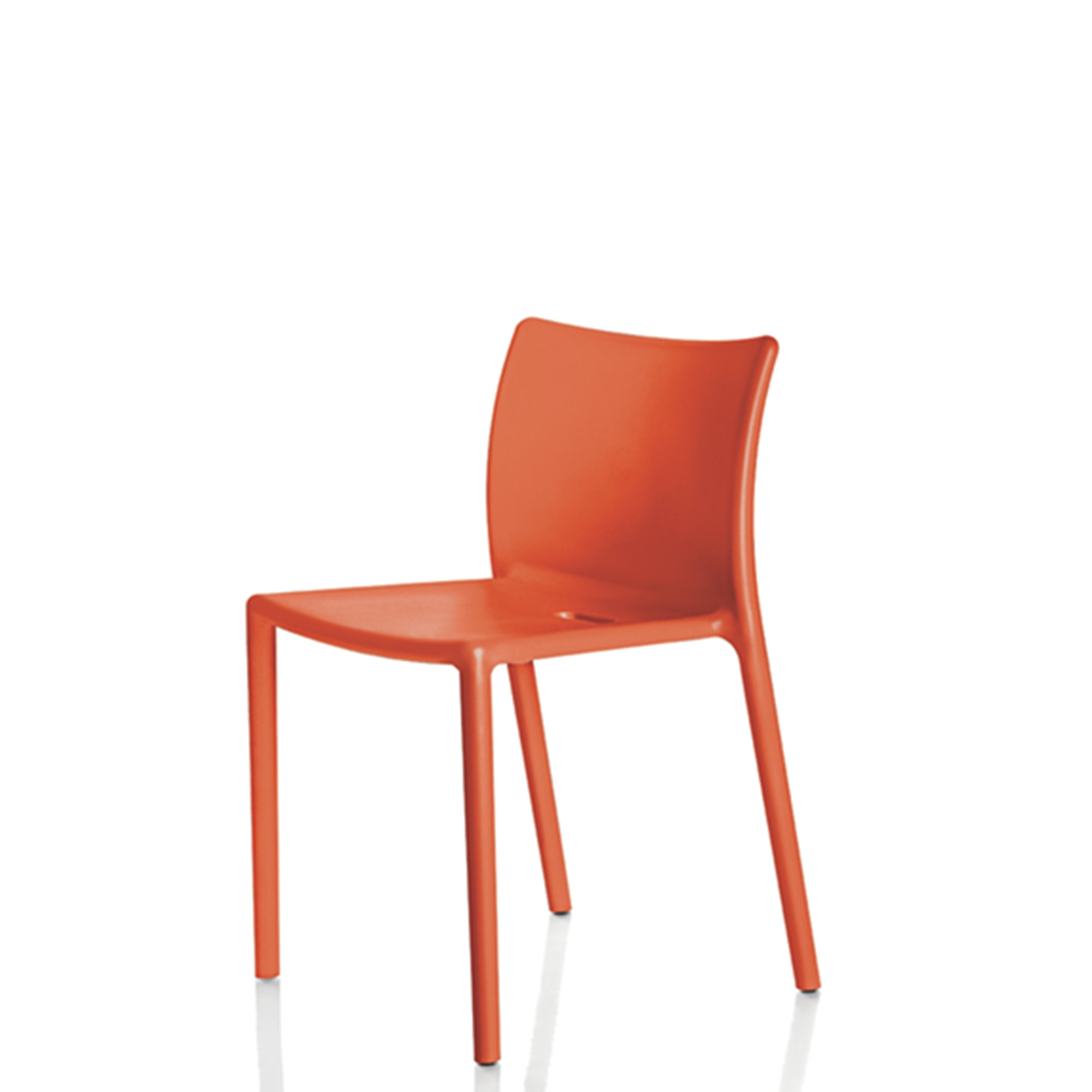 Magis Air Chair by Jasper Morrison Set of Four Orange 1086