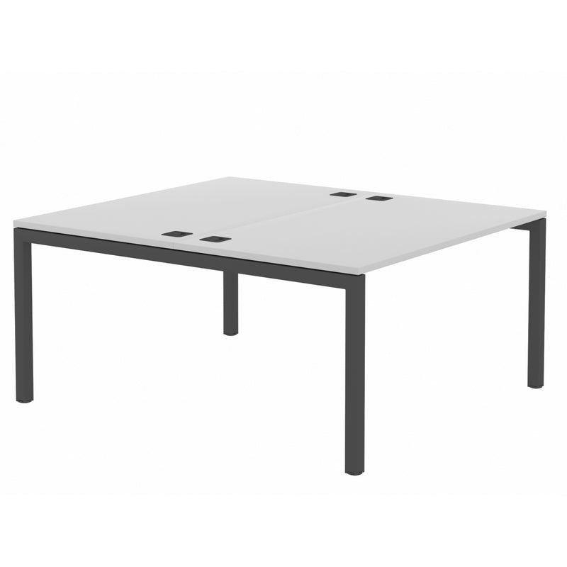 Elite Office Matrix Desk Dual Back to Back Grey MX with Plywood Edge
