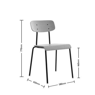 Dimensions for ORN Cafe Chair Set of Four