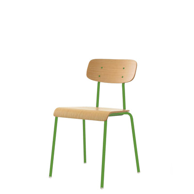 ORN Cafe Chair Set of Four with Yellow Green 6018 Base