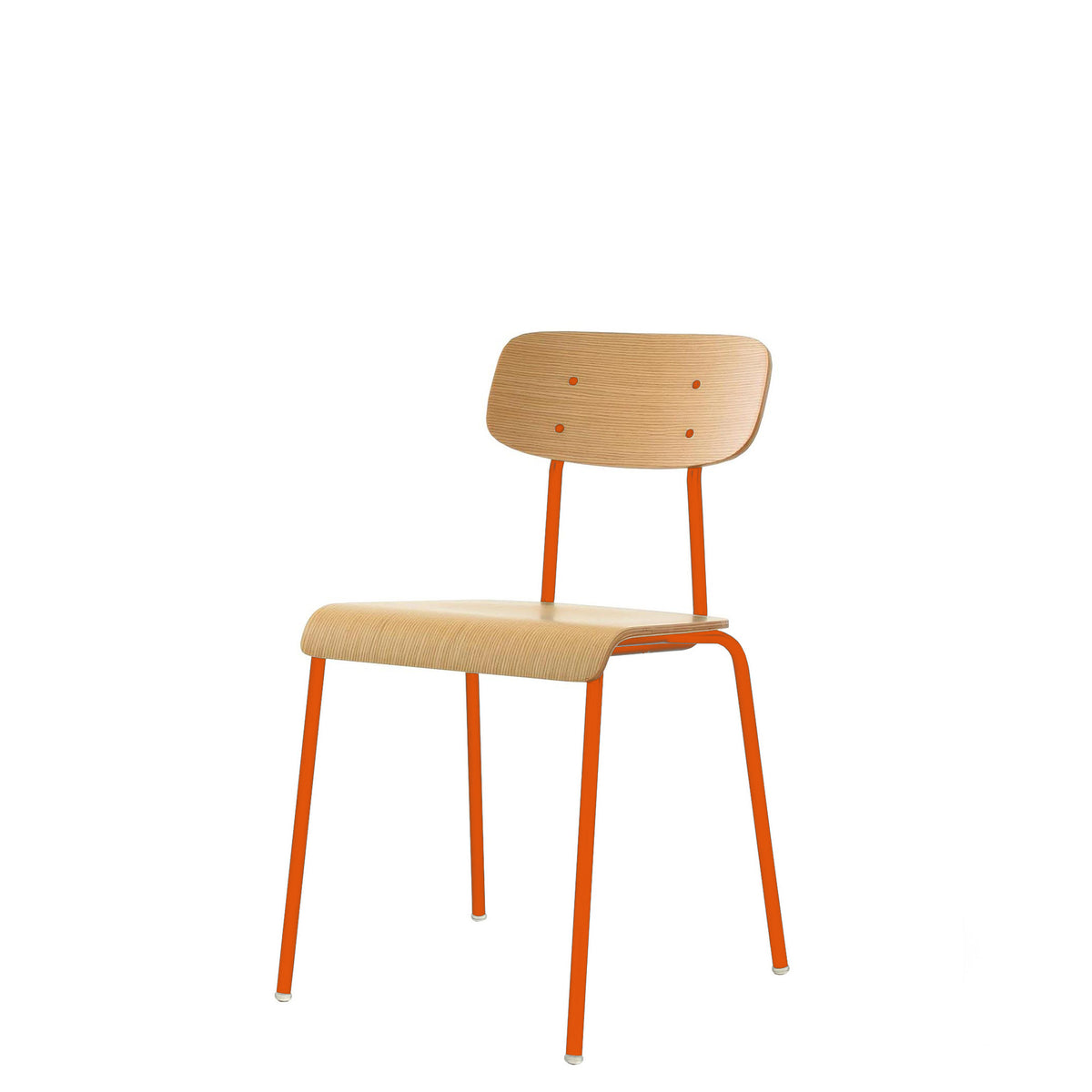 ORN Cafe Chair Set of Four with Pure Orange 2004 Base