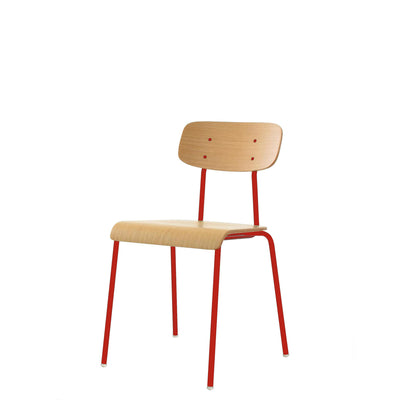ORN Cafe Chair Set of Four with Traffic Red 3020 Base