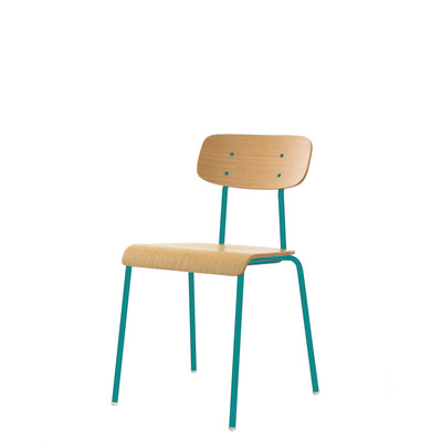 ORN Cafe Chair Set of Four with Turquoise Blue 5018 Base