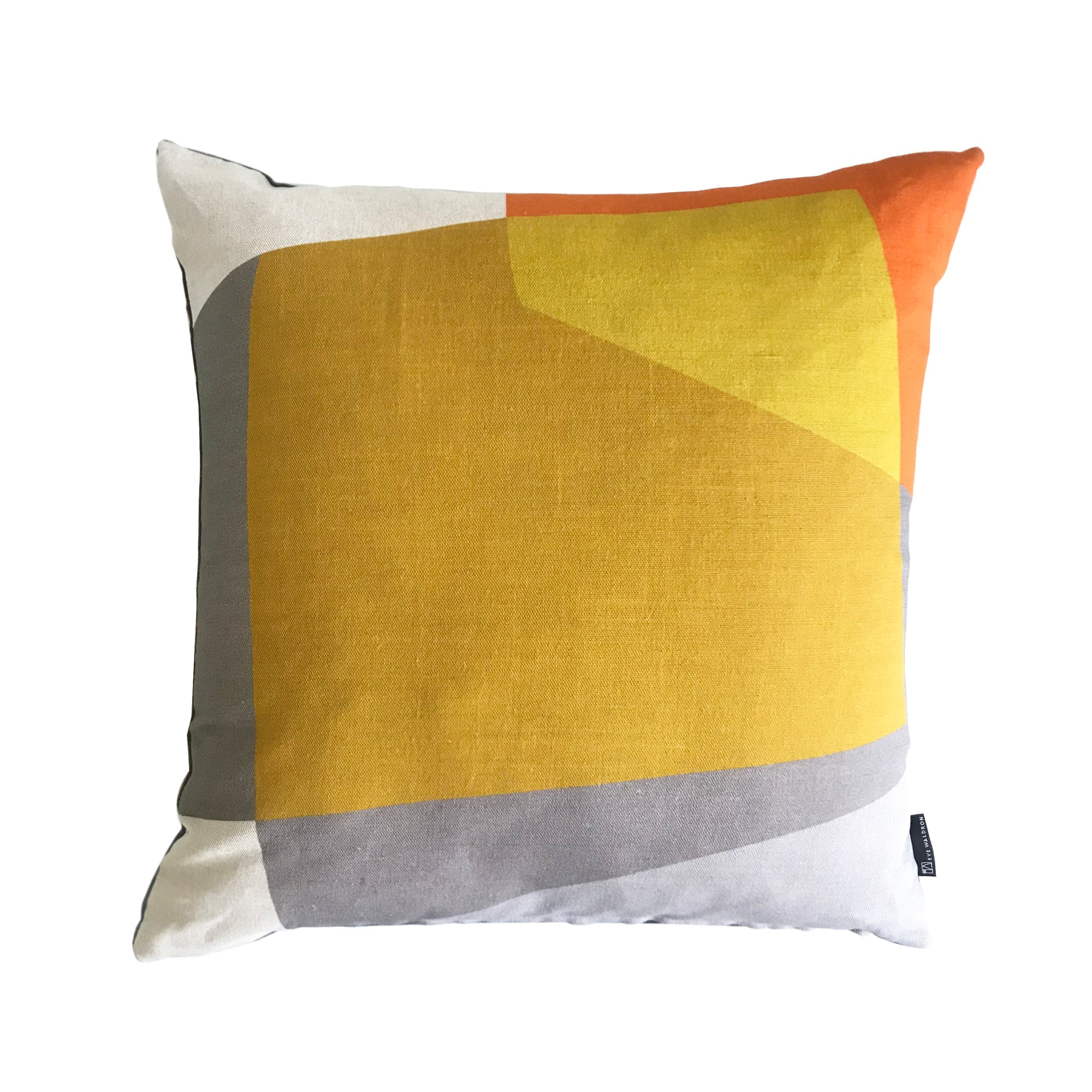 Eve Waldron Design Office Cushion Gold Windows 500 x 500mm