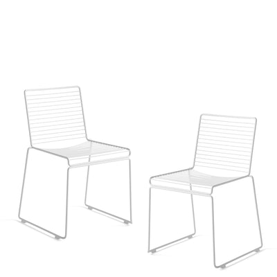 HAY - Hee Dining Chair - Pair - Pair of White Chairs