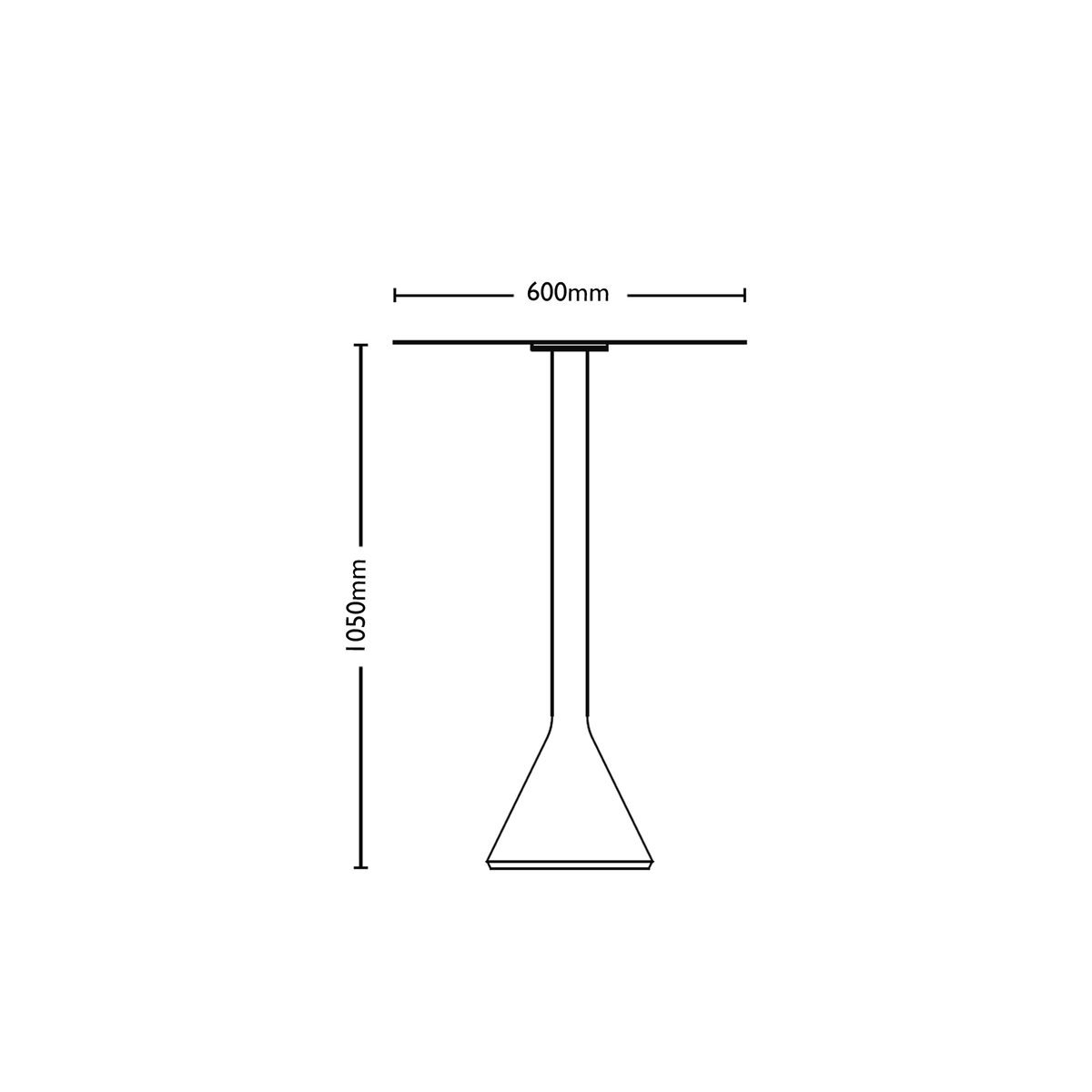 Dimensions for HAY Office Outdoor Cone Table
