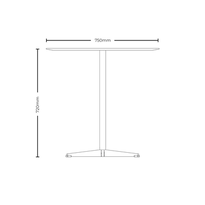Dimensions for New Design Group Office Round Cafe Table