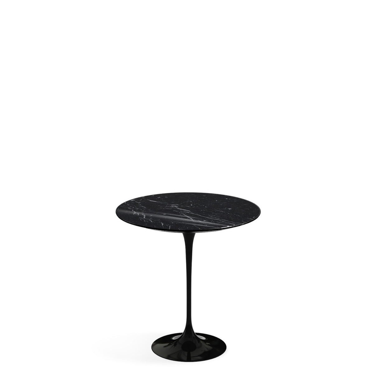 Knoll Saarinen Tulip Nero Maquina Marble Side Table