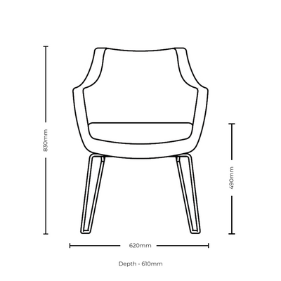 Dimensions for Roger Lewis Office Sintra Upright Chair