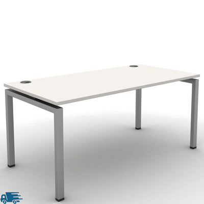 Mobili Office White Single Fixed Height Desk