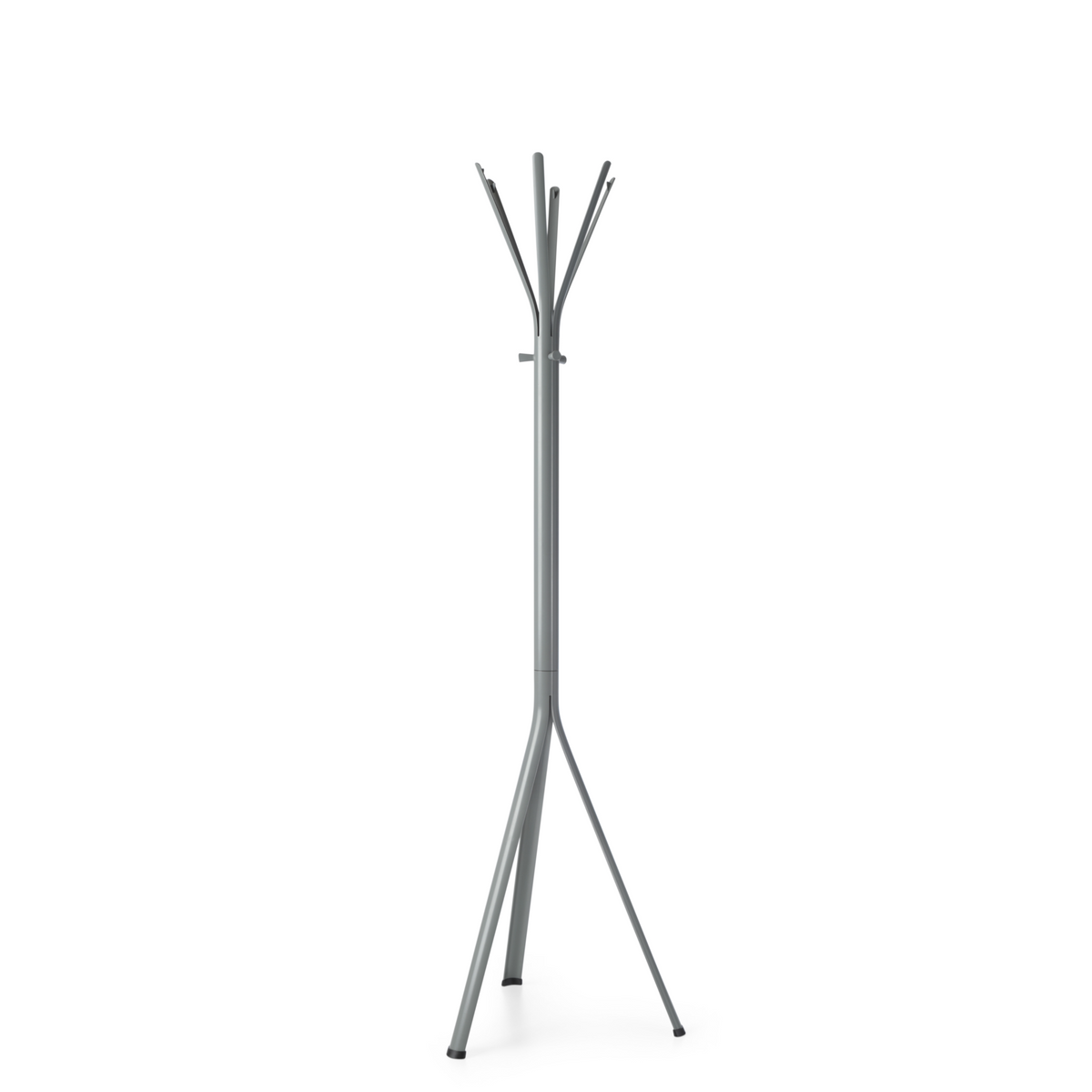 Spacestor Office Nine Coat Stand Mouse Grey with Mouse Grey Column