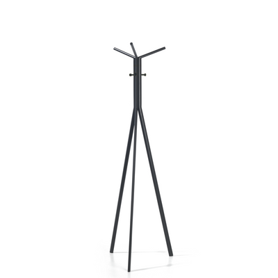 Spacestor Office Seven Coat Stand Jet Black