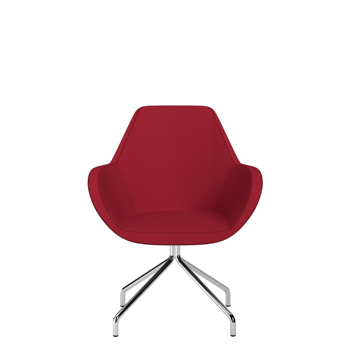 Spacestor Office Fan Chair with Swivel Base Red