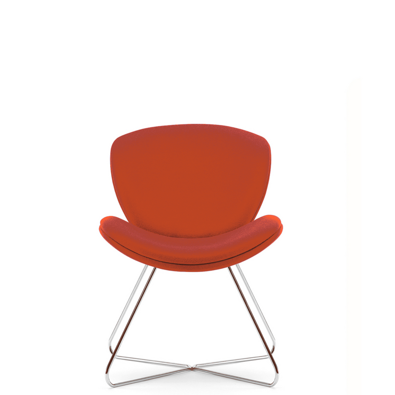 Pledge Office Red Spirit Lite Chair with Chrome Base