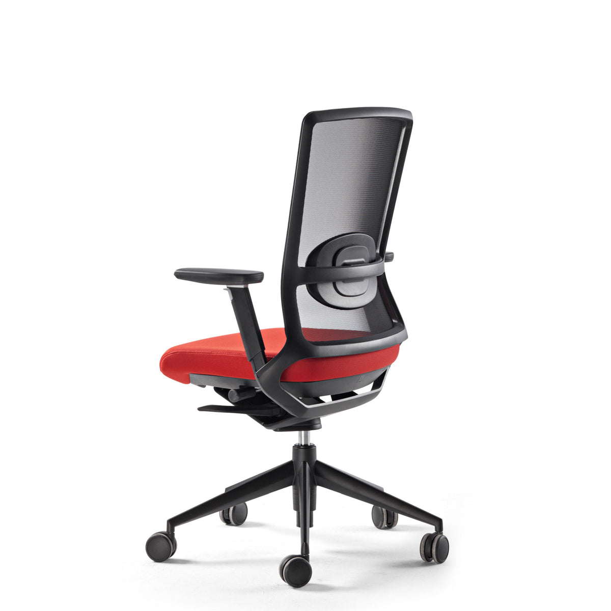 Actiu Office TNK 500 Task Chair - Mesh Back Red with Black Frame