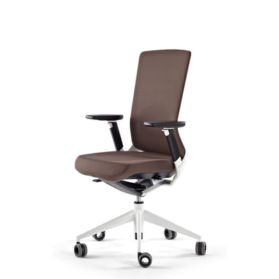 Actiu Office TNK 500 Task Chair - Upholstered Back Chocolate