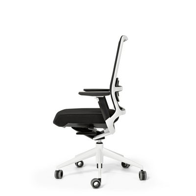 Actiu Office TNK 500 Task Chair - Mesh Back Nero with White Frame