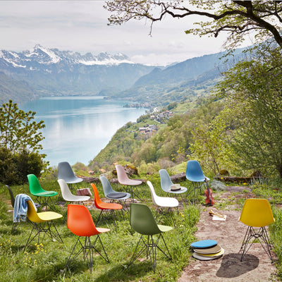 Vitra Eames Plastic Side Chair DSR Powder Coated for Outdoor Use. Garden Chairs Alps Setting