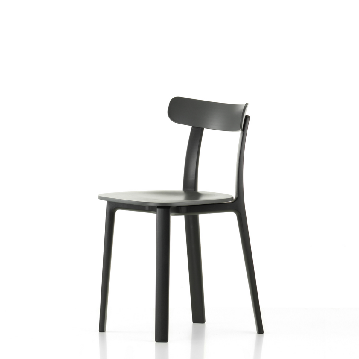 Vitra Office All Plastic Chair by Jasper Morrison Graphite Grey