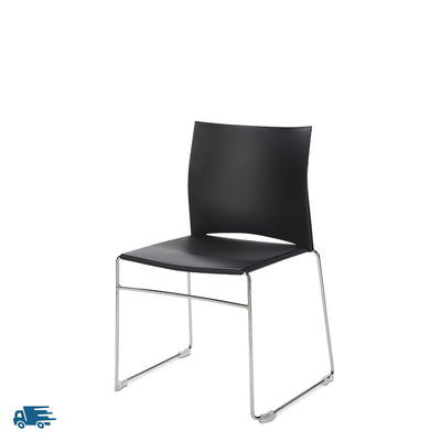 Connection Office Black Xpresso Stackable Chairs - Set of Four