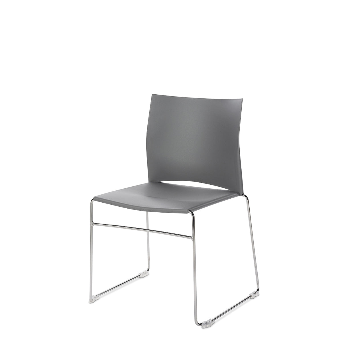 Connection Office Cement Grey Xpresso Stackable Chairs - Set of Four
