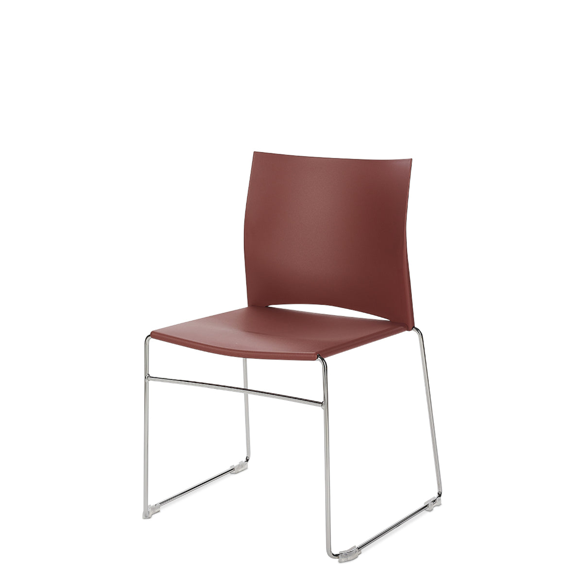 Connection Office Masala Red Xpresso Stackable Chairs - Set of Four