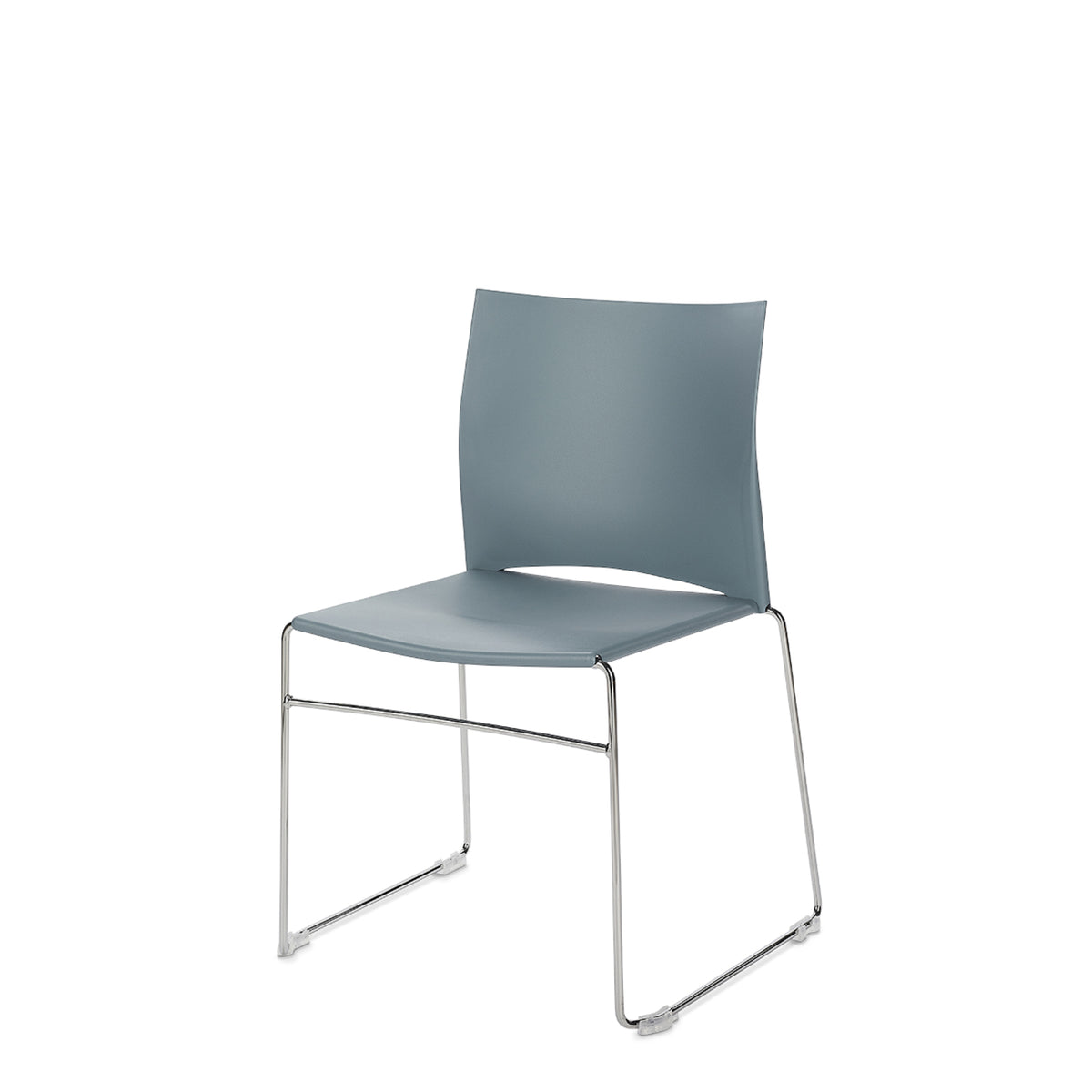 Connection Office Powder Blue Xpresso Stackable Chairs - Set of Four