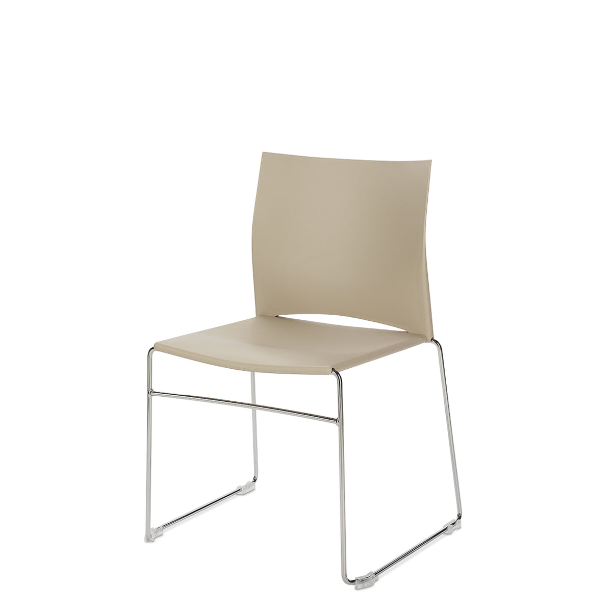 Connection Office Sandstone Xpresso Stackable Chairs - Set of Four
