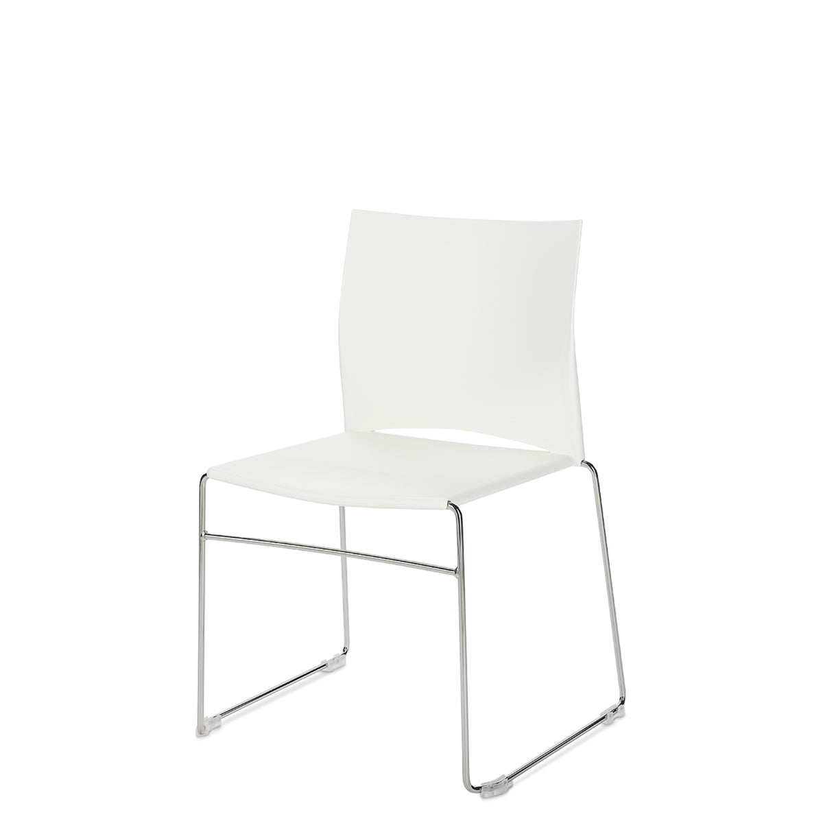 Connection Office Xpresso Stackable Chairs Set of Four White