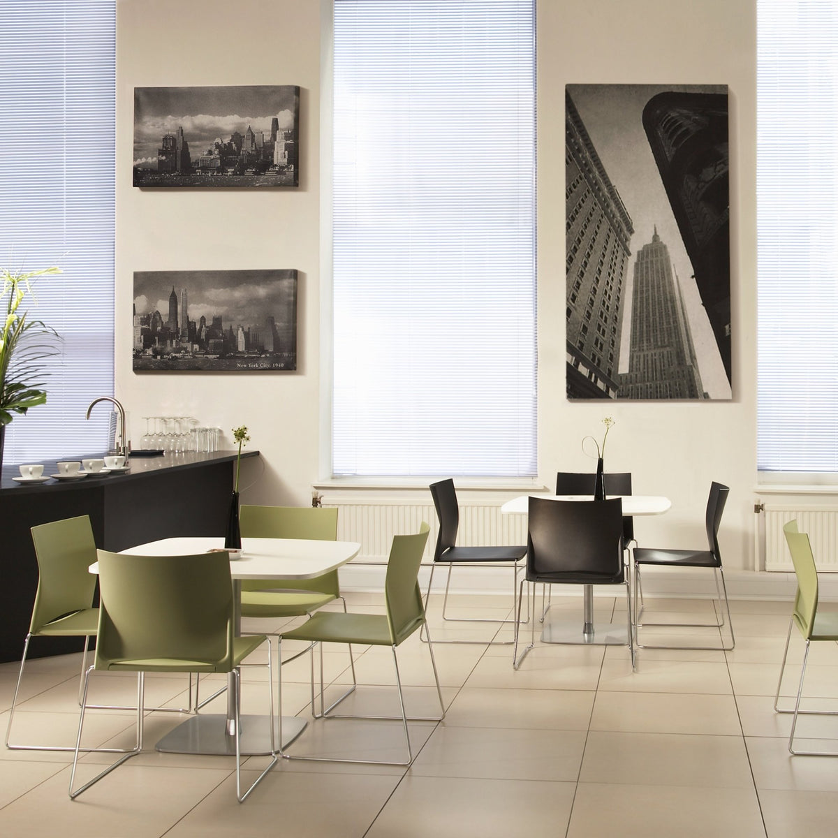 Connection Office Xpresso Stackable Chairs - Set of Four Seating