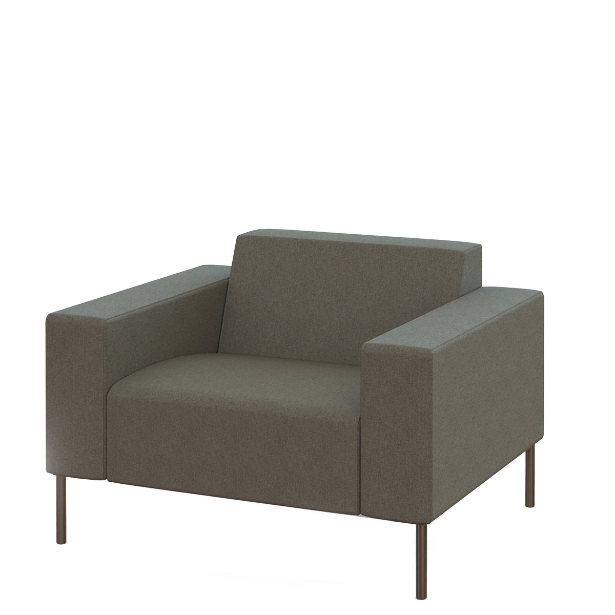 Hitch Mylius HM18 Origin Armchair Brushed Stainless Steel Legs Camden