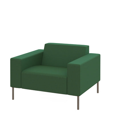 Hitch Mylius HM18 Origin Armchair Brushed Stainless Steel Legs Farringdon