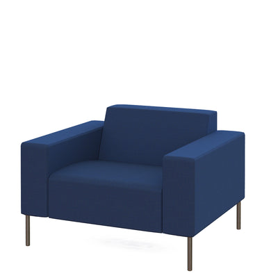 Hitch Mylius HM18 Origin Armchair Brushed Stainless Steel Legs Leyton Holborn