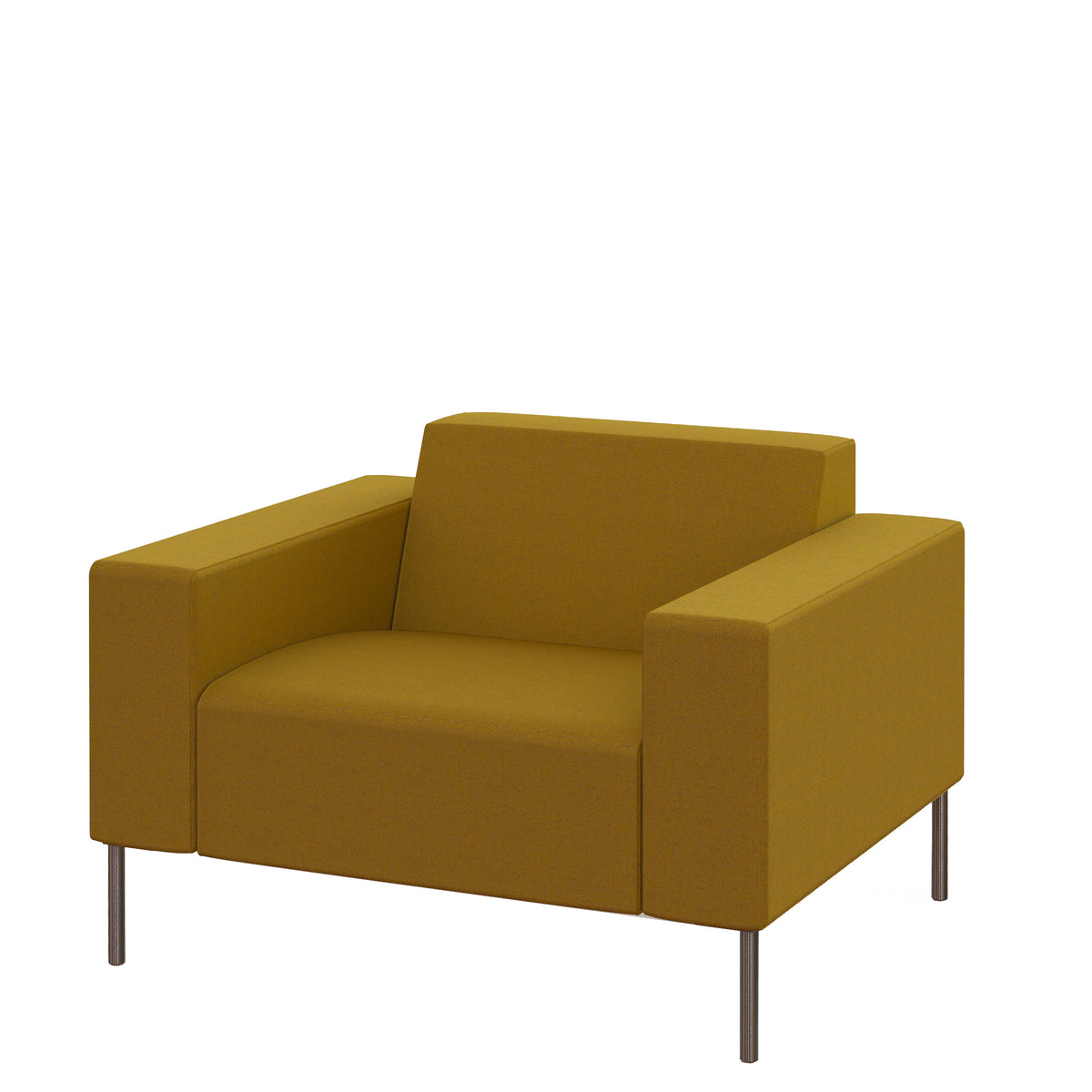 Hitch Mylius HM18 Origin Armchair Brushed Stainless Steel Legs Tooting