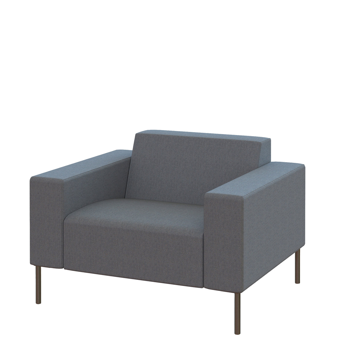 Hitch Mylius HM18 Origin Armchair Brushed Stainless Steel Legs Westminster