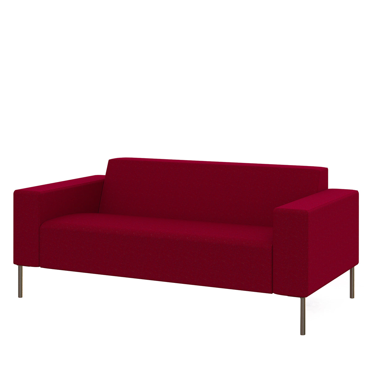 Hitch Mylius Office HM18 Kilburn Origin Two Seat Sofa with Brushed Stainless Steel Legs
