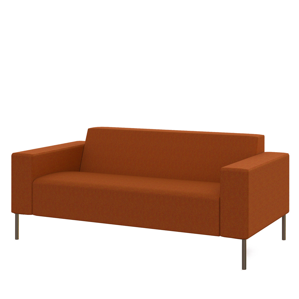 Hitch Mylius Office HM18 Leyton Origin Two Seat Sofa with Brushed Stainless Steel Legs