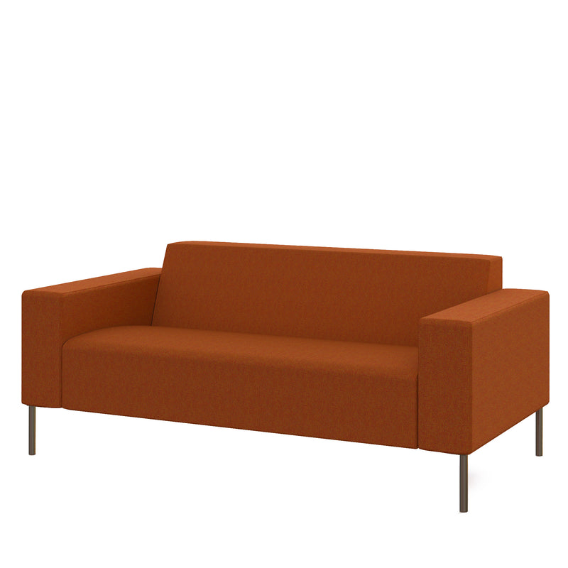 Hitch Mylius Office HM18 Origin Two Seat Sofa with Brushed Stainless Steel Legs