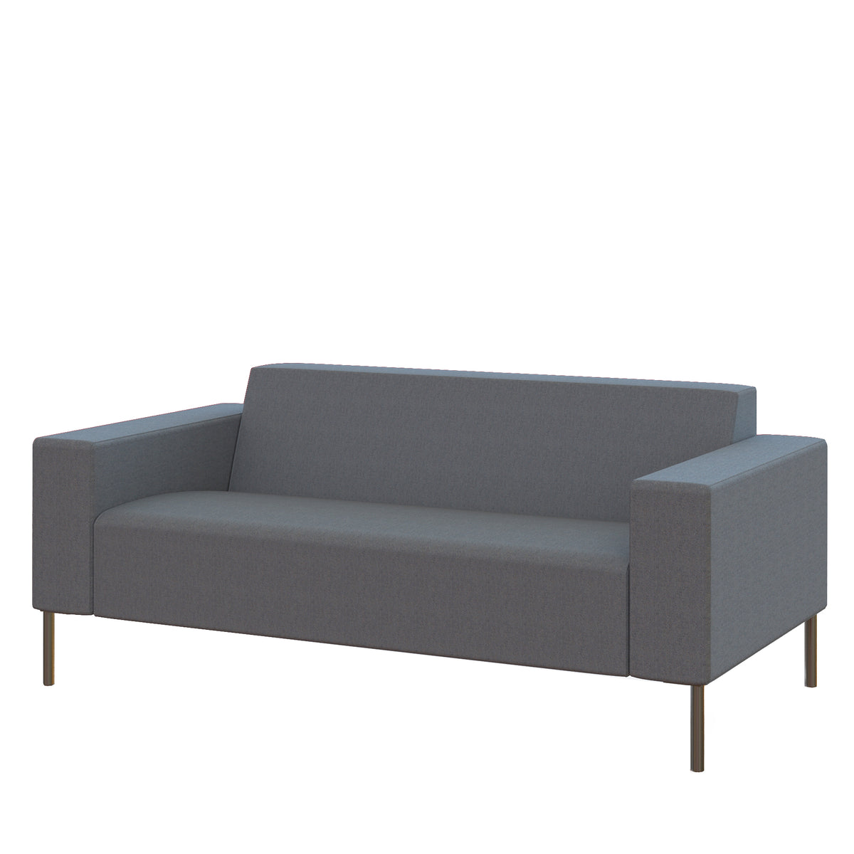 Hitch Mylius Office HM18 Westminster Origin Two Seat Sofa with Brushed Stainless Steel Legs