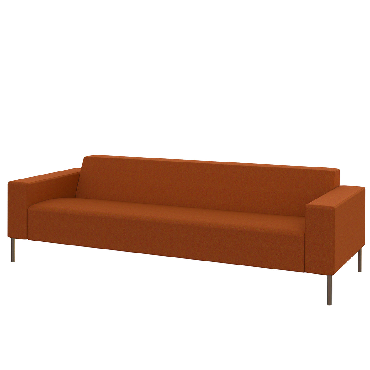 Hitch Mylius HM18 Origin Three Seat Sofa Brushed Stainless Steel Legs Leyton
