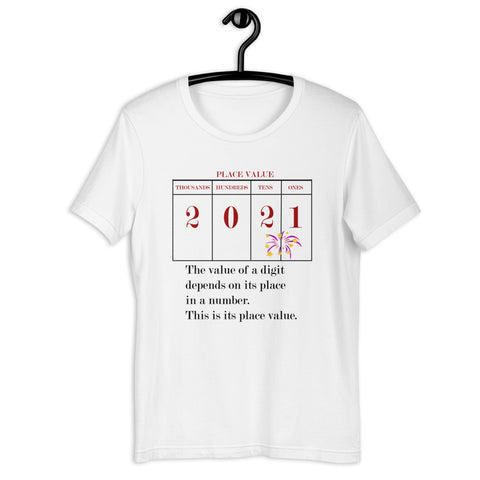 Place Value Chart 2021 Tee, White