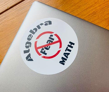 ALGEBRA MATH NO FEAR VINYL STICKER